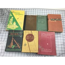 LOT OF VINTAGE SCHOOL BOOKS