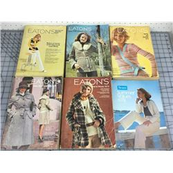 LOT OF 6 1970s EATONS CATALOGUES