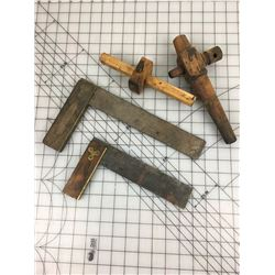 ANTIQUE CARPENTERS TOOLS & WOODEN SPIGOT