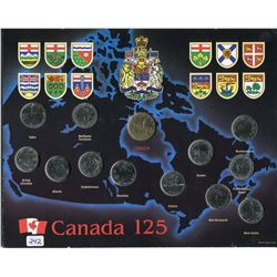 1992 CANADA PROVINCIAL COIN SET (125th ANNIVERSARY)