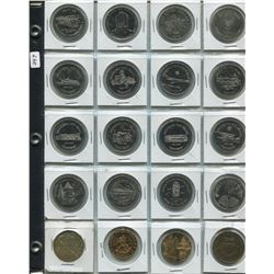 1 SHEET OF TOKENS (BRIDGING 100 YEARS, KENTUCKY BUCK, ETC.)