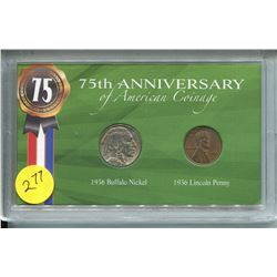 75th ANNIVERSARY OF AMERICAN COINAGE SET