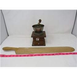 COFFEE GRINDER & WOODEN PADDLE