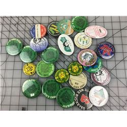 LOT OF PRINCE ALBERT PIN BACK BUTTONS