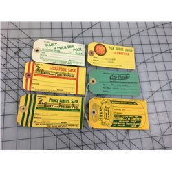 LOT OF MILK TAGS (SASKATCHEWAN CREAM DAIRY)