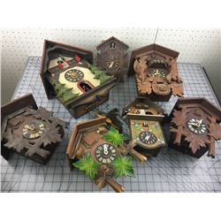 LOT OF CUCKOO CLOCKS PARTS *FOR REPAIR*
