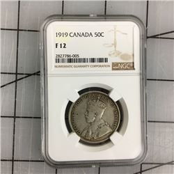 1919 CNDN GRADED 50 CENT PIECE (SILVER)