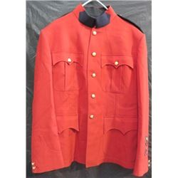 """R.C.M.P. RED DRESS TUNIC (CHEST 40"""", BODY 28½"""", SLEEVE 26"""")"""