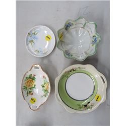 4 ASSORTED DISHES (ROYAL ALBERT, W GERMANY, ETC.) *NO CHIPS/CRACKS*