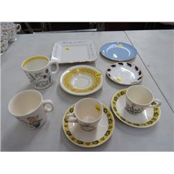 6 SAUCERS & 4 CUPS (NORWAY, ETC.) *NO CHIPS/CRACKS*