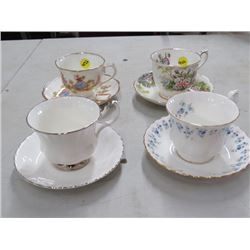 4 CUPS/SAUCERS (ROYAL ALBERT) *NO CHIPS/CRACKS*