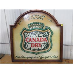 """SIGN (CANADA DRY) *WOODEN* (14""""X24"""")"""