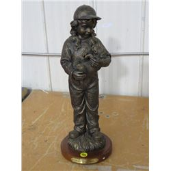 """STATUE (GIRL WITH DOG) *DUCKS UNLIMITED, PUPPY LOVE* (29/800, 16""""T)"""
