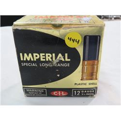 "AMMUNITION 12G 2¾"", (CIL IMPERIAL SPECIAL LONG RANGE) *QTY 12, NO 5 PLASTIC, 12 NO 4 PLASTIC, 1 NO 4"