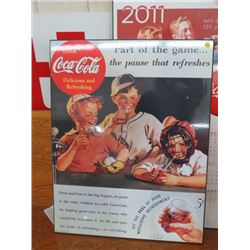 "COCA COLA SIGN (PART OF THE GAME) *WOODEN, 23""X30""*"