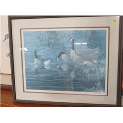 """FRAMED PRINT (LATE OCTOBER, CANADA 1986) BY C.D. HIEBERT, *31""""X25"""" 171/600*"""