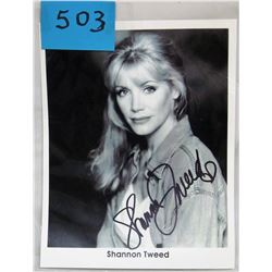 "AUTOGRAPHED PICTURE (SHANNON TWEED) *B/W 8"" X 10""*"