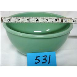 "MIXING BOWL (JADEITE FIRE KING 2000) *8"" BEADED RIM*"
