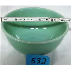 "MIXING BOWL (JADEITE FIRE KING 2000) *9"" BEADED RIM*"