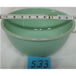 "MIXING BOWL (JADEITE FIRE KING 2000) *10"" BEADED RIM*"