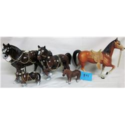 LOT OF HORSES (4 ARE CLYDSDALES)
