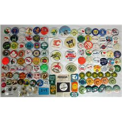 ADVERTISING BUTTONS/PINS (ADVERTISING)