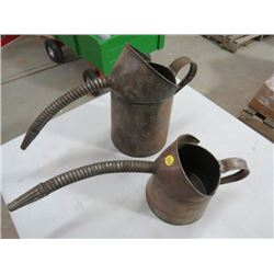 OIL CANS (COPPER) *W/SPOUTS* (QTY 2)