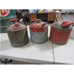 GAS CANS *1 GAL., TIN* (QTY 3)