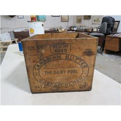 WOODEN BUTTER BOX (CANADIAN)