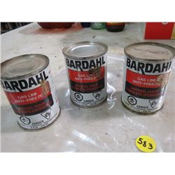 GAS TREATMENT CANS (BARDALL) *FULL, QTY 3*