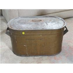 "COPPER BOILER (W/LID, NO LEAKS) *13""H X 24""L*"