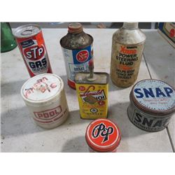 LOT OF TINS & PLASTIC CONTAINERS