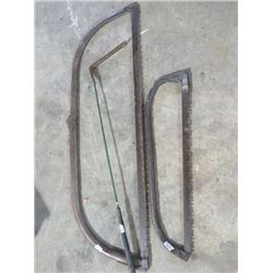 2 SWEDE SAWS & GRASS WHIPPER