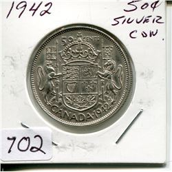 1942 CNDN 50 CENT PC (SILVER)