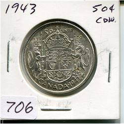 1943 CNDN 50 CENT PC (SILVER)