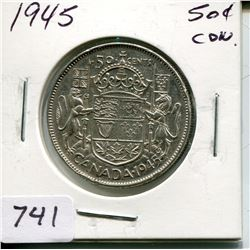 1945 CNDN 50 CENT PC (SILVER)