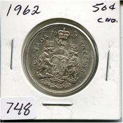 1962 CNDN 50 CENT PC (SILVER)