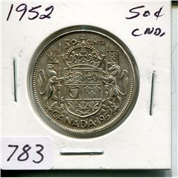 1952 CNDN 50 CENT PC (SILVER)