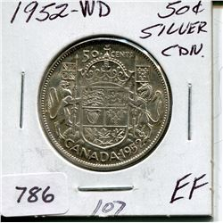 1952 CNDN 50 CENT PC (SILVER, WD)