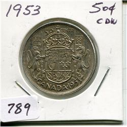 1953 CNDN 50 CENT PC (SILVER)