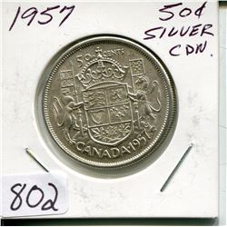 1957 CNDN 50 CENT PC (SILVER)