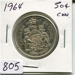 1964 CNDN 50 CENT PC (SILVER)