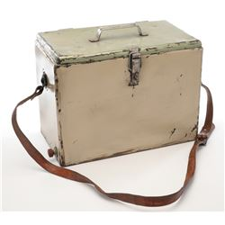 """""""Mikaela Banes"""" metal ice chest prop from Transformers: Revenge of the Fallen."""