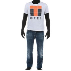 """""""Sam Witwicky"""" graphic t-shirt and jeans ensemble from Transformers: Dark of the Moon."""