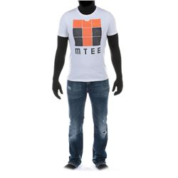 """""""Sam Witwicky"""" graphic t-shirt and jeans ensemble from from Transformers: Dark of the Moon."""