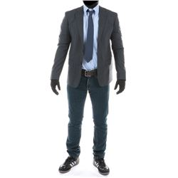 """""""Sam Witwicky"""" plaid blazer and jeans ensemble from Transformers: Dark of the Moon."""