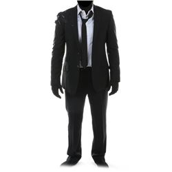 """""""Sam Witwicky"""" distressed black suit ensemble from Transformers: Dark of the Moon."""
