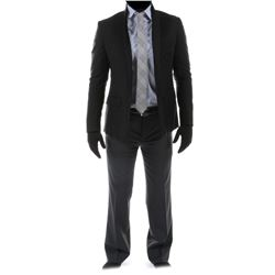 """""""Sam Witwicky"""" black blazer and gray trousers ensemble from Transformers: Dark of the Moon."""