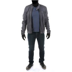 """""""Sam Witwicky"""" gray leather jacket ensemble from Transformers: Dark of the Moon."""