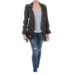 """""""Carly"""" olive green jacket and jeans ensemble from Transformers: Dark of the Moon."""